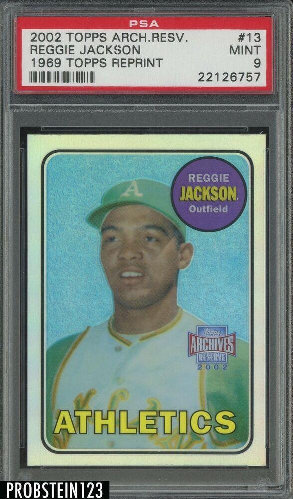 2002 Topps Archives Reserve 1969 Rc Retro Reggie Jackson As