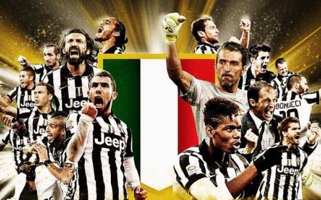 Juventus beat Sampdoria 1-0 to claim their 4th consecutive Serie A title. Congratulations Juventus FC!  Celebrate by shopping for a Juve football shirt http://www.soccerbox.com/internationalteams/juventus-football-shirts/ Get 10% off by using coupon MAY2015