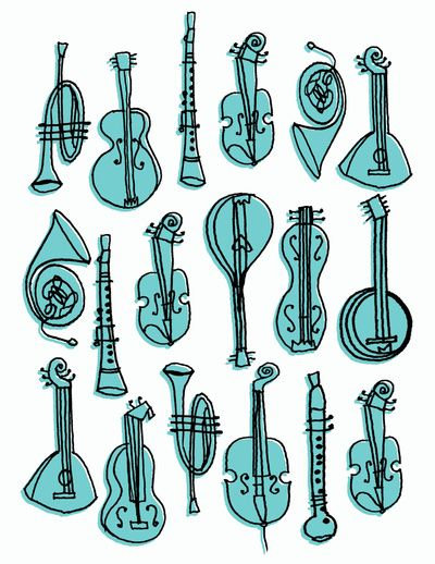 Musical Instruments Art Print