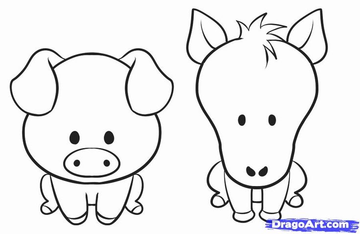 How to Draw a Simple Animal, Step by Step, Farm animals ...