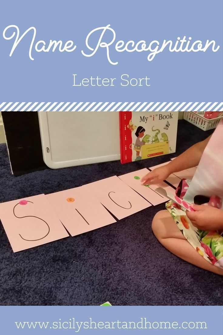 Name recognition activities| Name recognition for preschool and toddlers