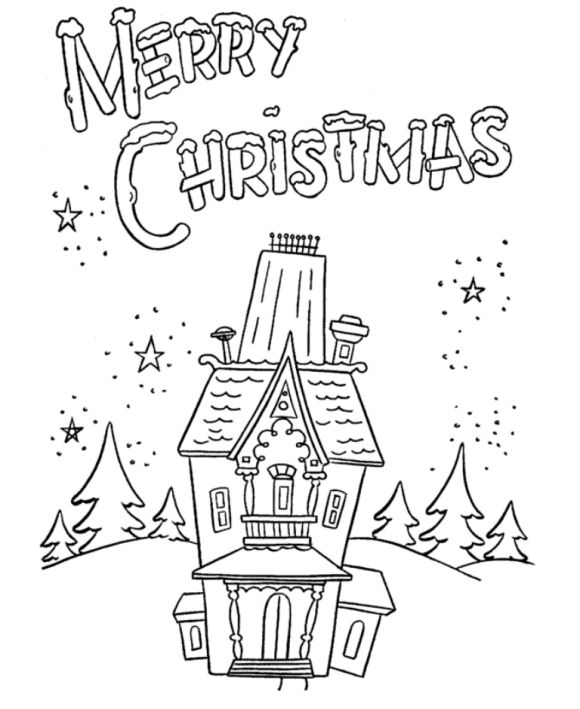 Coloring Pages For Merry Christmas Free