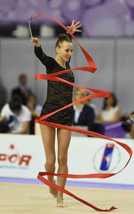 Ganna Rizatdinova, Ukraine, got the bronze medal for all-around finals in World Championships Izmir 2014