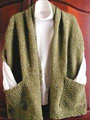 Scarf/shawl with pockets