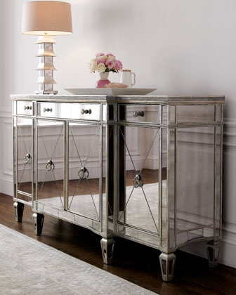 """I'm completely obsessed with mirrored furniture! <3 """"Amelie"""" Mirrored Buffet/Console"""