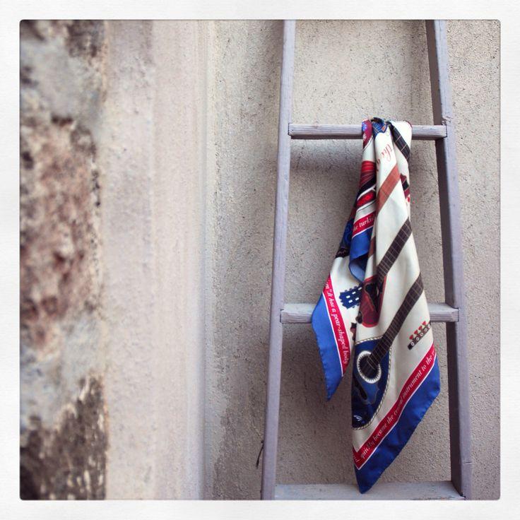 """""""Bouzoukia"""" silk scarf by Grecian Chic!"""