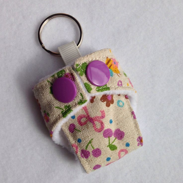 A personal favourite from my Etsy shop https://www.etsy.com/listing/203248785/cloth-diaper-cloth-nappy-mini-keychain