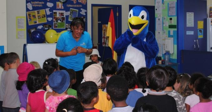 Kori visits kindergartens to help teach about water safety