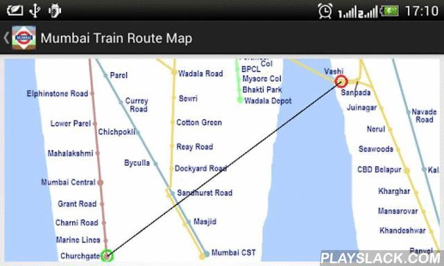 Mumbai Train Route Planner  Android App - playslack.com , This app helps you find Local Train + Metro + Monorail routes which can be used to travel by train from one location to another in Mumbai and its suburbs. The search provides you with a list of alternative routes which can be used to travel from the source to destination station. It provides you with the number of line changes and station stops involved in each route. The results are displayed based on your chosen sort option. You can…