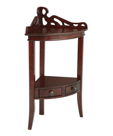 Another great find on #zulily! Gallery Corner Accent Table #zulilyfinds