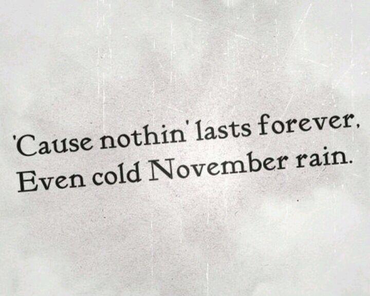 Even cold November rain