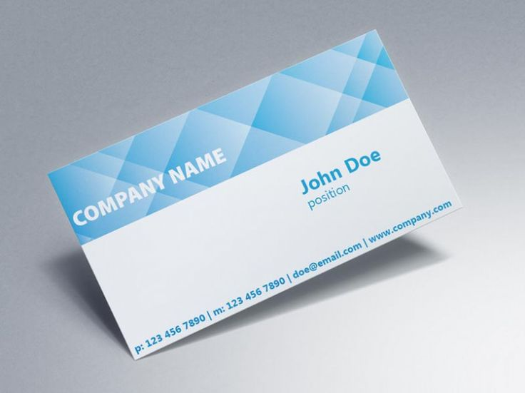 41 best Blue Business Cards Templates images on Pinterest - name card
