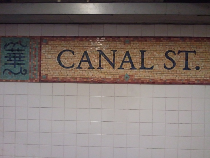 Canal Street sign on N Line