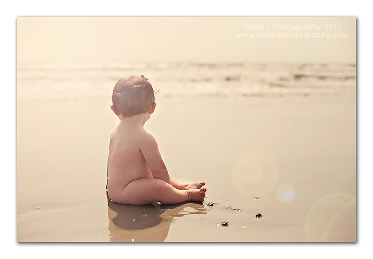 Beach baby--im totally doing this. If i can get him to sit still!!