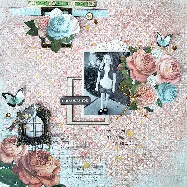 I Treasure You - Kaisercraft's Ooh La La collection. *** MCS LE Kit jan. 2017