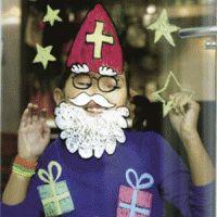Sint Nicolaas en zijn Maatjes Piet: Fotoprop en leuk idee. Raamstiften en Sint Sjabloon voor fotoshoot!