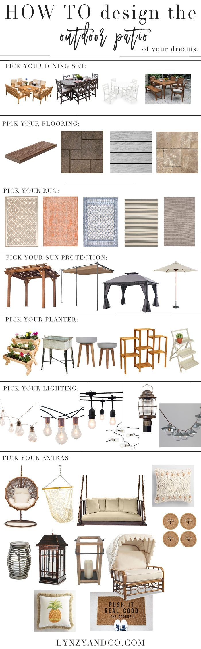 How to Design the Outdoor Patio of Your Dreams // Patio Ideas // Porch Ideas // Outdoor Patio