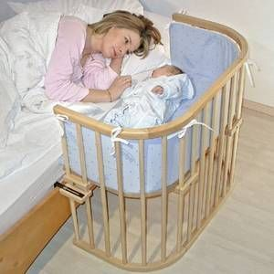 A co-sleeper  I love this instead of a bassinet!