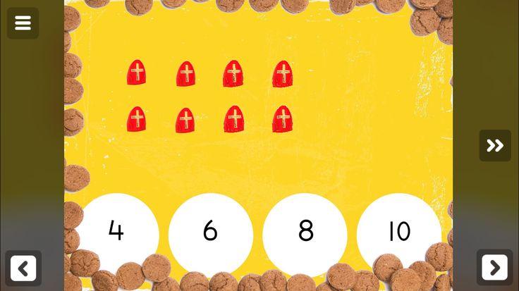 Tellen met Sinterklaas! Een digitaal spel gemaakt met TinyTap! Kijk op www.meesterSander.nl voor nog veel meer leuke spellen rond dit thema!