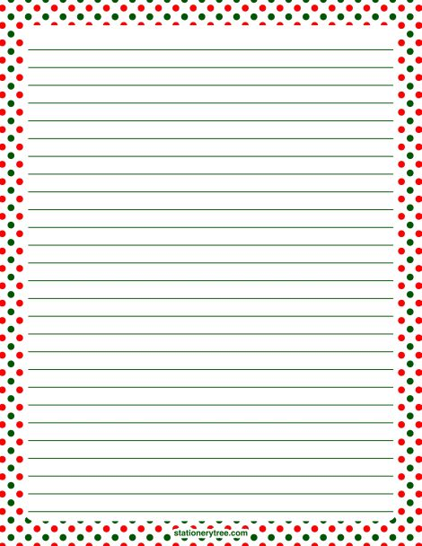 a4 christmas writing paper Printable writing paper for school and home with colored, lined, blank and  bordered writing paper  kids can practice their writing skills with a variety of  ruled paper with different themes, colors, ruled  twelve days of christmas  writing paper.