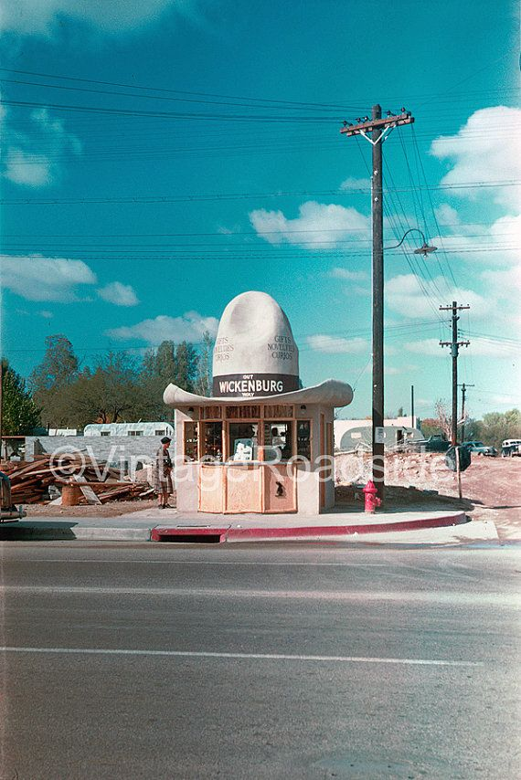 Cowboy Hat Gift Visitors Center Wickenburg Az Rare 1940s Kodachrome Now