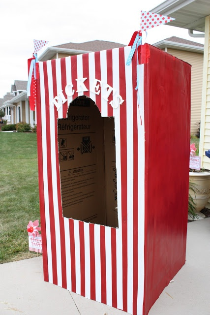Carnival Party Part IV - Refrigerator Box Ticket Booth