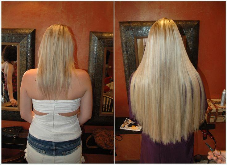 Gorgeous long blond hair extensions great lengths by Amaryllis Paris. Before & After. Extensions de cheveux longs blondes avant après par le salon Amaryllis http://www.amaryllisextensionscheveux.com