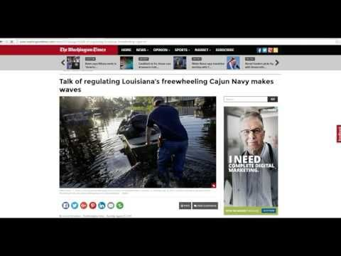 Government turns away Cajun recuers in Louisiana floods-- shame!