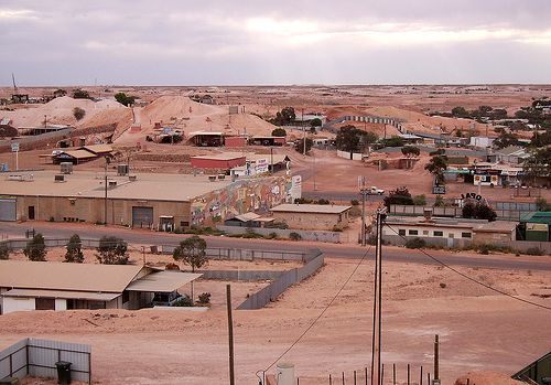 Coober Pedy, Australia. Most of the town is actually underground!