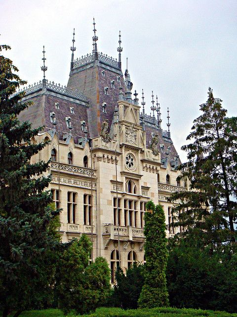 Iasi, Romania by CameliaTWU, via Flickr Culture Palace, Iasi, Romania