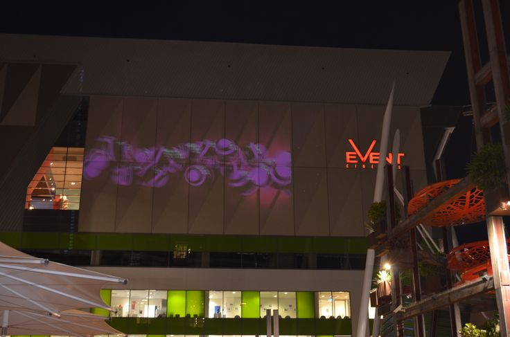 Projected images light up the exterior walls of Top Ryde City at the Hungry For Art Festival. #Light #Show #LightShow #Projection #Art #HungryForArt #Event #Ryde #TopRyde #TopRydeCity #CityofRyde