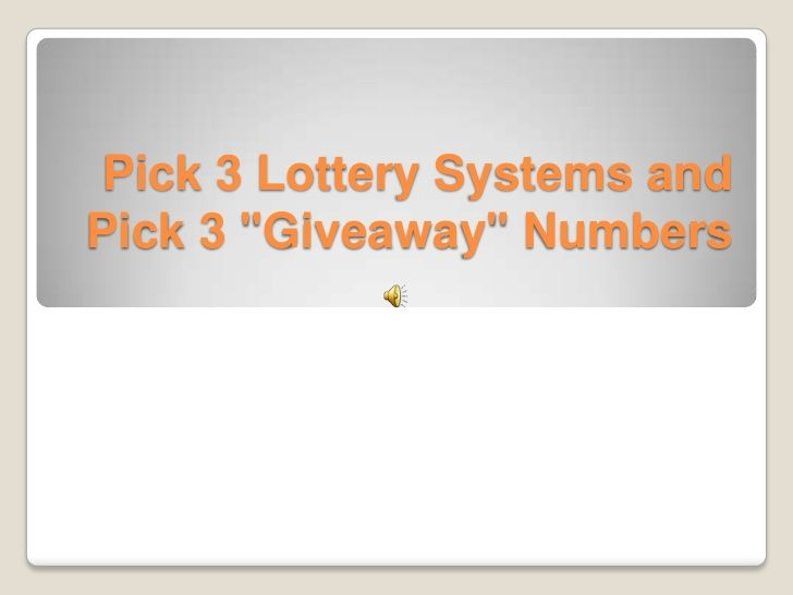 Texas Lottery Pick 3 Winning Numbers Try to succeed in the lotto, play a ticket each and every 7-day period.