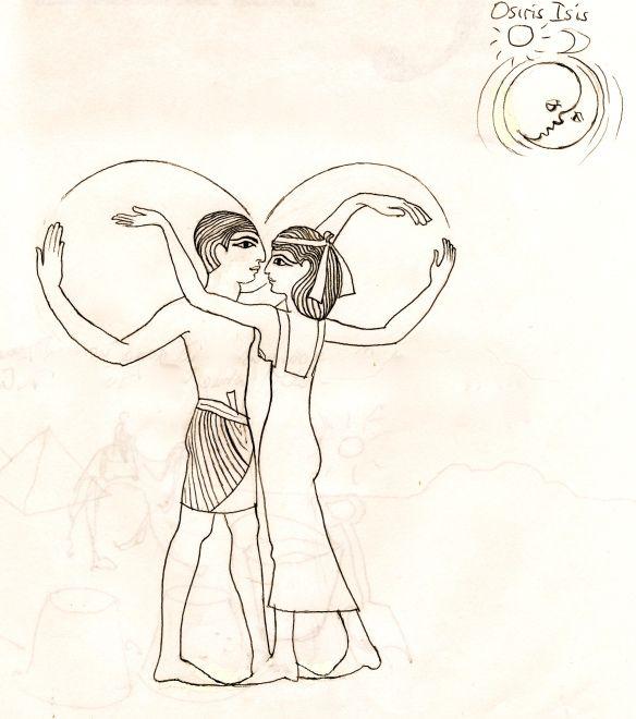 solar and llunar dance of osiris isis