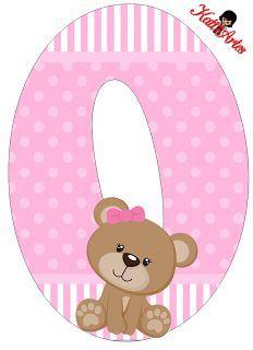 Oh my Alfabetos!: Alfabeto de tierna osita con fondo rosa.