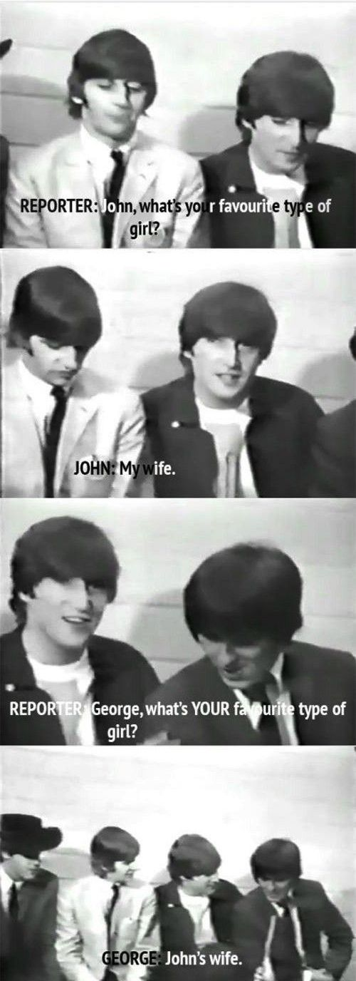 When they were asked to describe to their dream woman: | 9 Times The Beatles Proved They Were Cheeky.