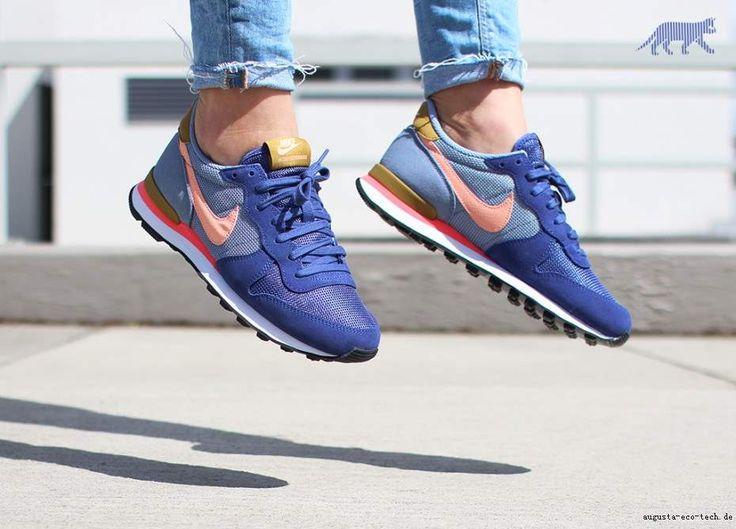 Nike wmns Internationalist (Blau Legend / Sunset Glow - Cool Blau - Bronzine) 629684 404