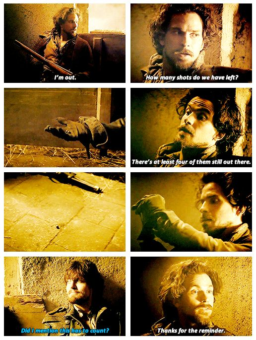 """Did you get him?"" ""Athos, please."""