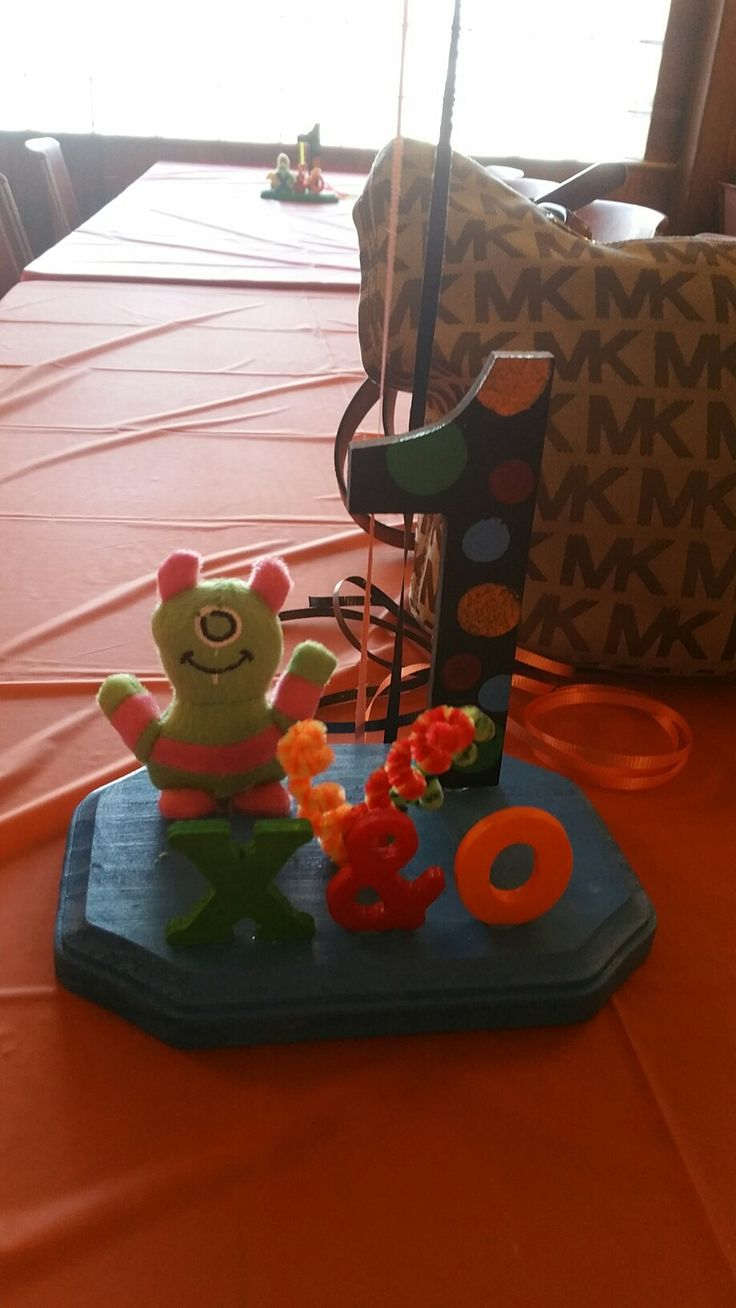 Monster party centerpiece