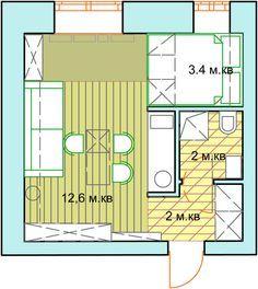 Проект  Ольги Ульяновой, доказывающий, что двухуровневая квартира может выглядеть гармонично, и не имея высоких потолков.