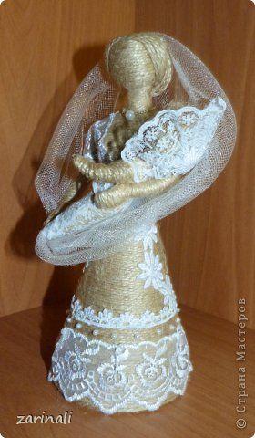 Куклы Моделирование конструирование И снова кукла из шпагата  Мать и дитя Шпагат фото 1