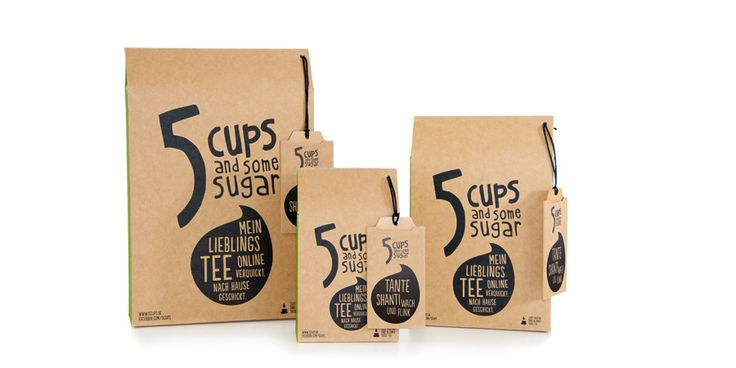 5 CUPS and some sugar - Packaging Design - Food Packaging - Red Dot 21 – global design directory
