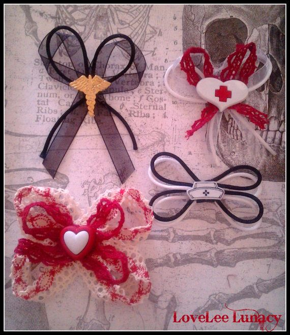 Adorable Healthcare/ Nursing Hair Accessories Set by LoveLeeLunacy
