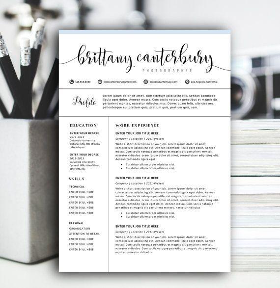 25  best ideas about modern resume template on pinterest