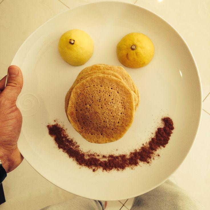 Cinnamon Pancakes #healthy #fitfam #foodpics #breakfast