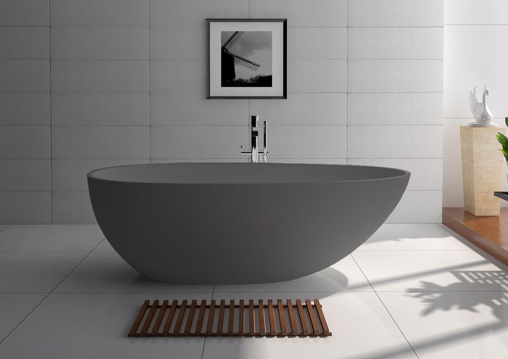 Bahama Stone Bath Matt Grey - ABL Tile & Bathroom Centre