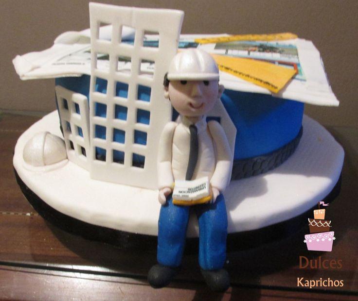Torta Arquitecto Torta Profesiones #TortaArquitecto #TortasDecoradas #DulcesKaprichos