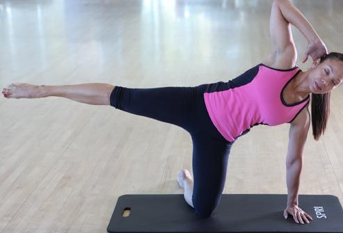 Pilates for Beginners -- try these moves to tone your abs, back, and upper and lower body.