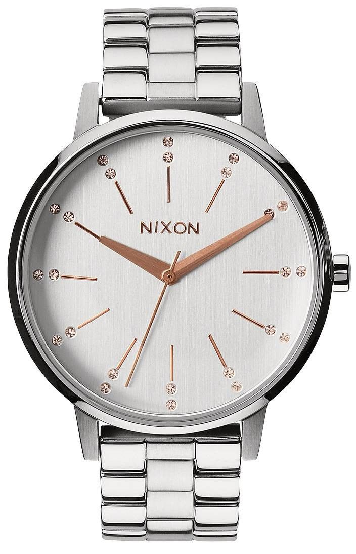 Nixon Silver Watch | Nixon The Kensington Watch - Silver/Light Gold Crystal | Discover His and Hers Nixon Watches @ KJ Beckett