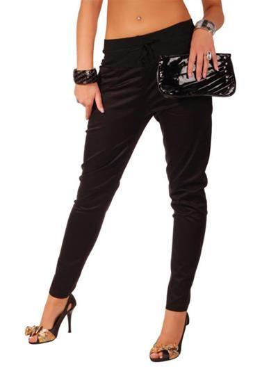 Чёрные брюки галифе женские