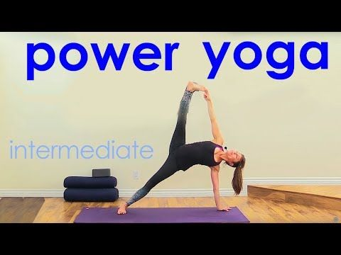 Power Yoga Workout ~ Intermediate Yoga Flow - YouTube | yoga